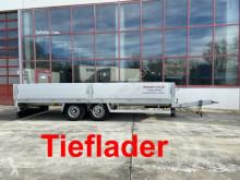 Möslein heavy equipment transport trailer Tandem- Pritschenanhänger- Tieflader-- Neuwerti
