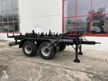 Remolque caja abierta 18 t Tandem- Kran- Ballast Anhänger-- Neuwertig