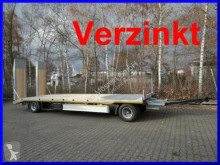 Möslein heavy equipment transport trailer 2 Achs Tieflader- Anhänger mit gerader Ladefläc