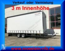 Pótkocsi Möslein Tandem- Schiebeplanenanhänger 3 m Innenhöhe-- F használt ponyvával felszerelt plató