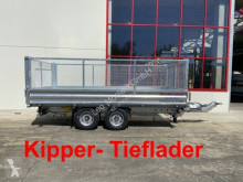 Möslein three-way side trailer Tandem 3- Seitenkipper Tieflader, Gitteraufsatz