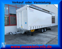 Reboque Möslein Tandem- Schiebeplanenanhänger, Ladungssicherung caixa aberta com lona usado