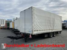 Pótkocsi Tandem- Planenanhänger. Ladebordwand + Durchlad használt ponyvával felszerelt plató