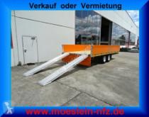 Möslein Tandemtieflader trailer used dropside flatbed