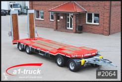 Schwarzmüller heavy equipment transport trailer 4-achs Tiefladeanhänger mech Rampen