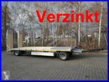 Remolque Möslein 2 Achs Tieflader- Anhänger mit gerader Ladefläc portamáquinas usado