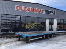 Cuppers 3-assige middenasaanhangwagen met oprijplaten trailer used flatbed