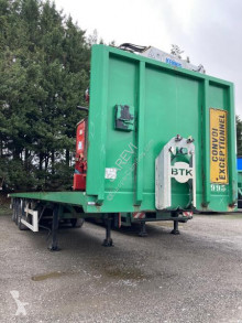 Robuste Kaiser S3803A PLATEAU LOURD AVEC GRUE SUR ROLLS KENNIS 16000-R/71-3 trailer used flatbed