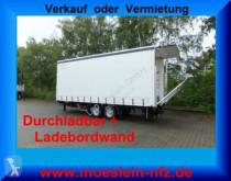 Reboque Möslein Tandem Planenanhänger, Ladebordwand 1,5 t und D caixa aberta com lona usado