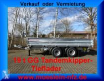 Möslein 19 t Tandem- 3 Seiten- Kipper Tieflader trailer used heavy equipment transport