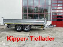 Pótkocsi Möslein 14 t Tandem- Kipper Tieflader, Breite Reifen-- használt billenőkocsi