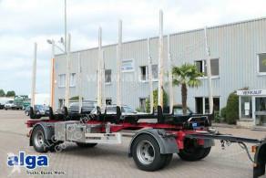 Aanhanger houtvrachtwagen HTA 20, Kurzholz, Alu-Teleskop-Rungen EXTE, SAF