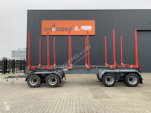 Прицеп лесовоз OKT new, unused drawbar wood trailer, springsus., 4 axles, twinair, 48 tons, no registr., EC approval cert.
