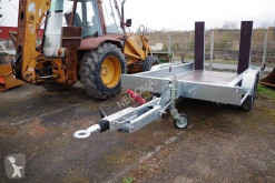 Satellite heavy equipment transport trailer Portes engins 2 essieux rampes