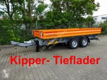 Släp Möslein 13 t Tandem 3- Seitenkipper Tieflader-- Neufahr tre vagnar begagnad