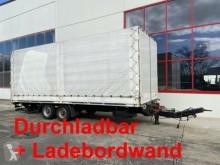 Anhænger Tandem- Planenanhänger. Ladebordwand + Durchlad palletransport brugt