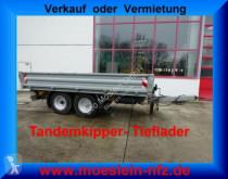 Remorque Tandemkipper- Tieflader mit Breitbereifung benne occasion