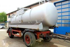 آلة لصيانة الطرق شاحنة ضخّ مائي 2-Achs Haller 12m³ Saug u. Druck Anhänger Ex-ADR