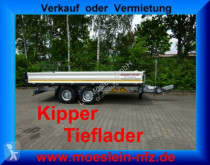 Släp Möslein Tandem 3- Seitenkipper Tieflader-- Neufahrzeug tre vagnar begagnad