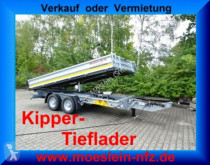 Möslein 13 t Tandem 3- Seitenkipper Tieflader-- Neufahr trailer used three-way side