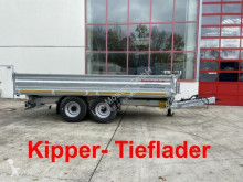 Möslein 14 t Tandem- Kipper Tieflader, Breite Reifen-- trailer used three-way side