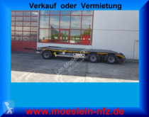 Möslein 3 Achs Tiefladeranhänger + Muldenanhänger trailer used heavy equipment transport