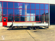 Heavy equipment transport trailer Tandemtieflader, breite Rampen, Seilwinde