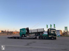 Heavy equipment transport semi-trailer