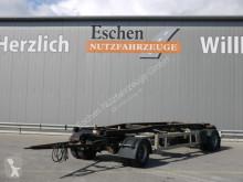 Remolque portacontenedores Hüffermann HSA 18.70 Abrollcontainer Schlitten, BPW, 1.Hand