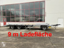 Möslein 3 Achs Plato- Tieflader- Anhänger 9 m trailer used heavy equipment transport
