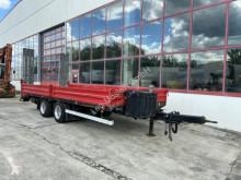 14 t Tandemtieflader trailer used heavy equipment transport