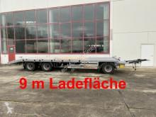 Möslein 3 Achs Tieflader gerader Ladefläche 9 m, Neufah trailer used heavy equipment transport