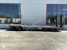 Möslein 4 Achs Tiefladeranhänger trailer used heavy equipment transport