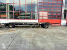 Remorca transport containere Hüffermann 2 Achs Tieflader für Abroll undAbsetzmulden