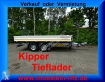 Rimorchio Möslein Tandem 3- Seitenkipper Tieflader-- Neufahrzeug trilaterale usato