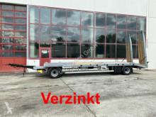 Rimorchio Möslein 2 Achs Tiefladeranhänger gerader Ladefläche, Ne trasporto macchinari usato