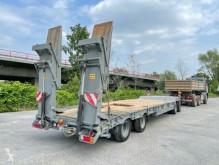 Pótkocsi Müller-Mitteltal T40 bladgeveerd hydraulische rampen APK 2022 használt gépszállító