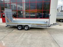 Möslein Tandemtieflader mit breiten hydraulischen Rampe trailer used flatbed