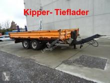 Pótkocsi Müller-Mitteltal Tandemkipper- Tieflader használt billenőkocsi