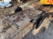 Rimorchio porta escavatore largo 1,20 m trailer used flatbed