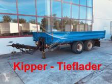 Pótkocsi Müller-Mitteltal 13,5 t Tandemkipper- Tieflader használt billenőkocsi