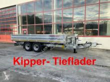 Remorca trilaterala Möslein Kipper Tieflader, Breite Reifen-- Neufahrzeug -