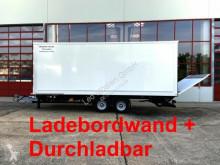Möslein Tandem Koffer, Ladebordwand 1,5 t + Durchladbar Anhänger gebrauchter Kastenwagen