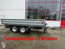 Remorque benne Tandemkipper- Tieflader mit Breitbereifung