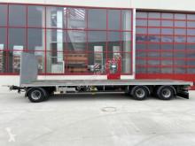 Remolque Möslein 3 Achs Jumbo- Plato- Anhänger 9 m, BallenwagenN caja abierta transporta paja usado