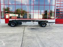 Hüffermann 2 Achs Schlittenanhänger für Abrollbehälter trailer used flatbed
