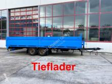 Remolque Müller-Mitteltal Tandem- Pritschenanhänger- Tieflader portamáquinas usado