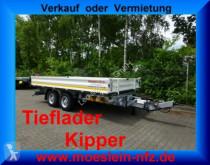 Möslein three-way side trailer 13 t Tandem 3- Seitenkipper Tieflader-- Neufahr