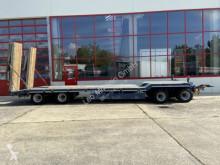 Fliegl 4 Achs Tiefladeranhänger trailer used heavy equipment transport
