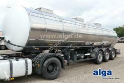 Schwarzmüller food tanker semi-trailer Isoliert, Edelstahl, 30m³, 3 Kammern, Alu-Felgen